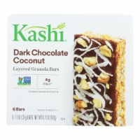 Kashi Dark Chocolate Coconut Layered Granola Bars - Case of 8 - 6.7 OZ