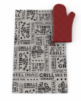 IG Design BBQ Towel & Oven Mitt Set