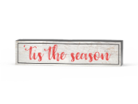 IG Design Tis The Season Wood Block Sign