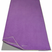 Gaiam Stay-Put Yoga Towel - Purple/Green