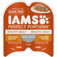 IAMS Perfect Portions Grain Free Pate Chicken Recipe Adult Wet Cat Food Twin Pack