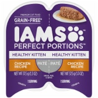 IAMS Perfect Portions Grain Free Pate Chicken Recipe Kitten Wet Food Twin Pack