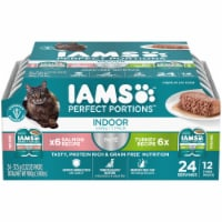 IAMS Perfect Portions Salmon & Turkey Pate Indoor Wet Cat Food