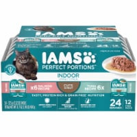 IAMS Perfect Portions Salmon Recipe & Tuna Recipe Indoor Wet Cat Food