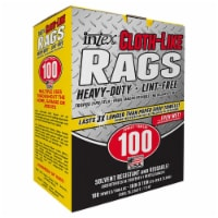 Intex  Cloth-Like  Fiber Blend  Wiping Rags  10 in. W x 11 in. L 100 count - Case Of: 1; - 1
