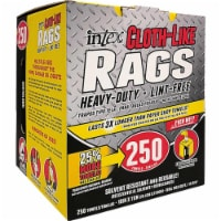 Intex 1014259 10 x 11 in. Cloth-Like Fiber Blend Wiping Rags - Pack of 250 - 1