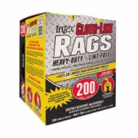 Intex Supply 269272 Intex 10 x 11 in. Blue Cloth-Like Rags - 200 Count - 1