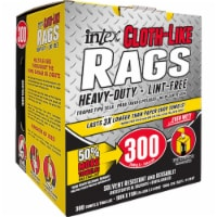 Intex 10 In. x 11 In. White Cloth-Like Rag (300 Count) NW-00255-300W - 10 In. x 11 In.