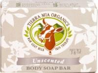 Tierra Mia Organics Raw Goat Milk Skin Therapy Unscented Body Soap Bar