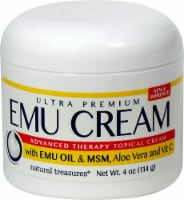 Natural Treasures  Emu Topical Cream with Emu Oil & MSM Aloe Vera and Vitamin C