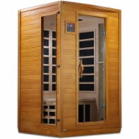 Golden Designs Andora 2 Person Low EMF 6 Heating Panel Infrared Therapy Sauna - 1 Unit