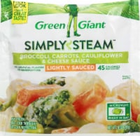 Green Giant Steamers Broccoli Carrots Cauliflower & Cheese Sauce Frozen Vegetables