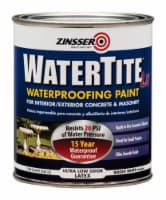 Zinsser  WaterTite  Bright White  Smooth  Water-Based  Acrylic Copolymer  Waterproofing Paint - Count of: 1