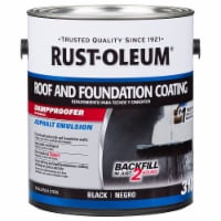 Rust-Oleum 302225 310 Roof and Foundation Coating black gal - 1 gallon each