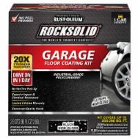 Rust-Oleum 318712 RockSolid Polycuramine Garage Floor Coating BLACK Kit for 1 Car Garage - 1 kit each