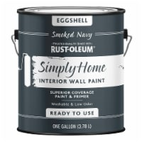 Rust-Oleum® Simply Home Eggshell Interior Wall Paint - Smoked Navy - 1 gal
