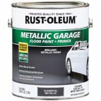 Rust-Oleum 349353 Metallic Garage Floor Paint + Primer Gunmetal gal - 1 gallon each