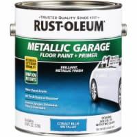 Rust-Oleum Metallic Garage Floor Paint + Primer, 1 Gal., Cobalt Blue 349354 - 1 Gal.