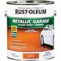 Rust-Oleum Metallic Garage Floor Paint + Primer, 1 Gal., Copper 349355 - 1 Gal.
