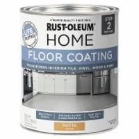 Rust-Oleum 358871 Floor Coating Top Coat Matte Clear Quart - 32 ounce each