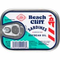 Beach Cliff Sardines in Soybean Oil - 3.75 oz