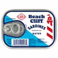 Beach Cliff Sardines in Water - 3.75 oz