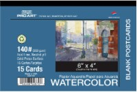 Pro Art 140 lb Cold Press Blank Watercolor Postcard - 15 Sheets - White