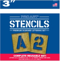 Pro Art Letters and Numbers Stencil Kit