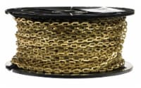 Campbell Chain No. 1/0 in. Single Jack Brass Safety/Plumber Chain 13/64 in. Dia. x 200 ft. L - Count of: 1