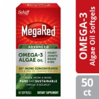 Schiff MegaRed Omega-3 Algae Oil Dietary Supplement Softgels 50 Count