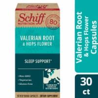 Schiff Valerian Root & Hops Flower Sleep Support Supplement Capsules