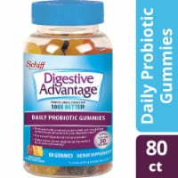 Digestive Advantage Daily Probiotic Natrual Fruit Flavor Digestive Health Gummies 80 Count