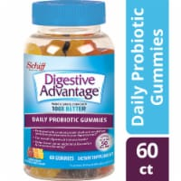 Digestive Advantage Daily Probiotic Natural Fruit Flavor Gummies 60 Count