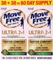 Schiff Move Free Ultra 2-In-1 Joint Health with ComfortMax Coated Tablets