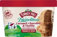 Turkey Hill® Trio'politan Caramel Chocolate & Vanilla Ice Cream - 48 fl oz
