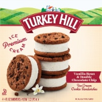 Turkey Hill Vanilla Bean & Chocolate Chip Ice Cream Sandwiches