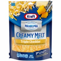 Kraft Shredded Triple Cheddar Cheese with a Touch of Philadelphia Cream Cheese