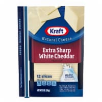 Kraft Extra Sharp White Cheddar Cheese Slices