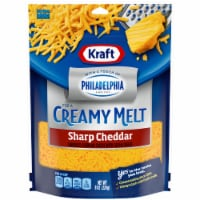 Kraft & Philadelphia Creamy Melt Shredded Sharp Cheddar Cheese