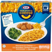 Kraft Macaroni & Cheese with Breaded Chicken Nuggets and Broccoli Dinner