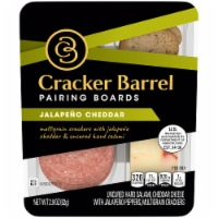 Cracker Barrel Jalapeno Cheddar Cheese Uncured Hard Salami & Mulitgrain Crackers  Pairing Boards