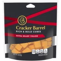 Cracker Barrel Rich & Bold Extra Sharp Yellow Cheese Cubes