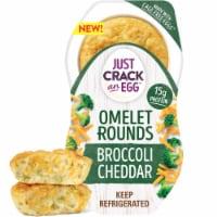 Just Crack An Egg Omelet Rounds Broccoli Cheddar Egg Bites - 2 ct / 4.6 oz