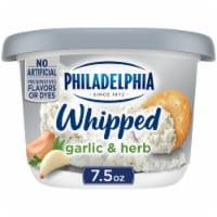 Philadelphia Garlic & Herb Whipped Cream Cheese Spread - 7.5 oz