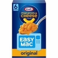 Kraft Easy Mac Original Macaroni and Cheese Dinner - 6 ct / 2.15 oz