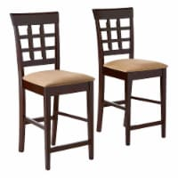 Coaster Home Furnishings Upholstered Counter Height Stool, Cappuccino (Set of 2)