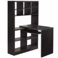 Cappuccino Hollow-Core Left Or Right Facing Corner Desk - 1