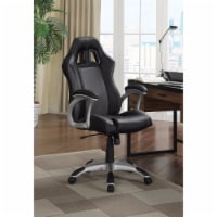 Coaster Contemporary Adjustable Office Chair in Black and Gray - 1