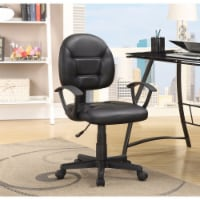 Coaster Leatherette Office Chair in Black - 1