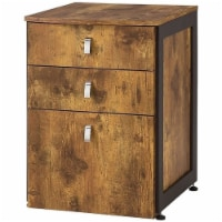Coaster Estrella 3 Drawer Lateral File Cabinet in Antique Nutmeg - 1